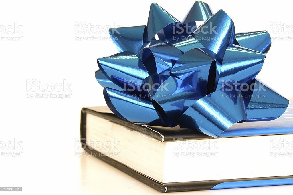 Gift of reading - blue royalty-free stock photo