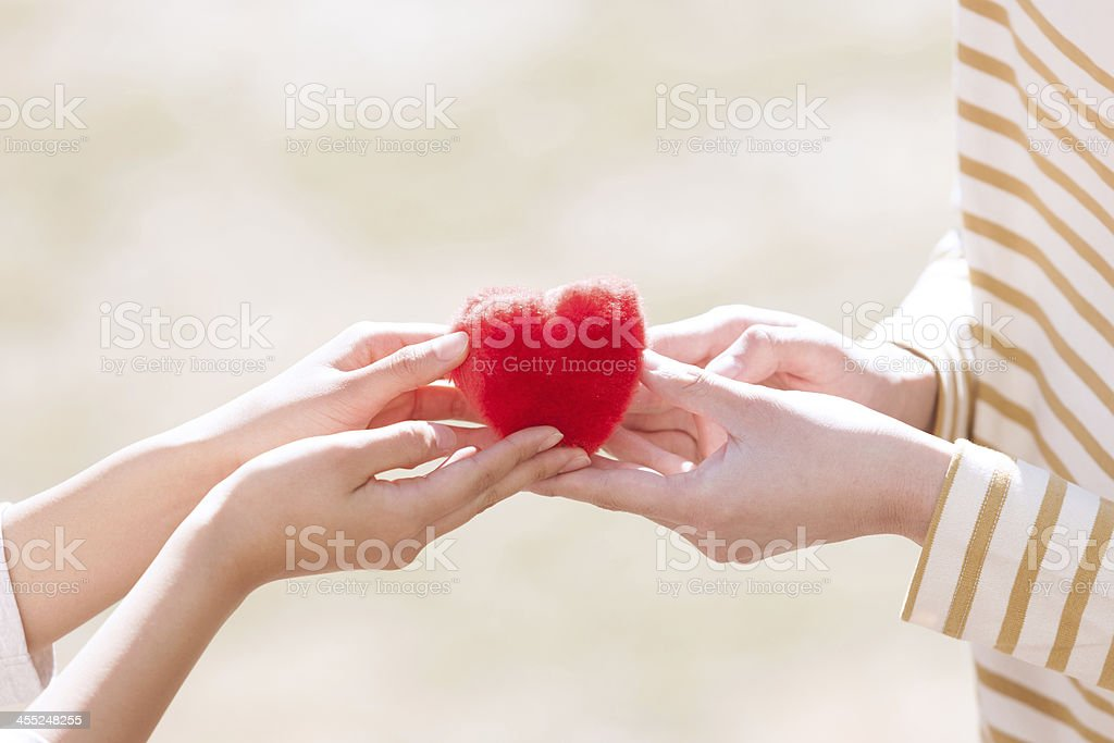 Gift of the heart stock photo