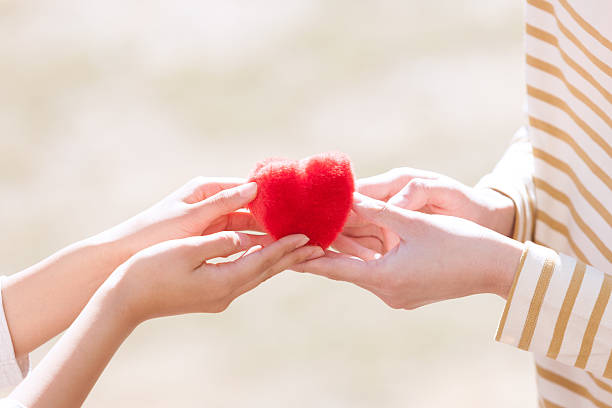 gift of the heart - affectionate stock pictures, royalty-free photos & images
