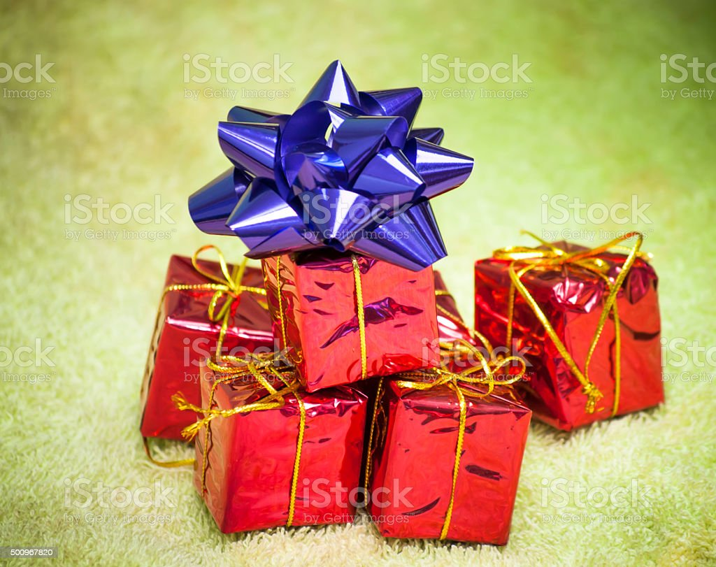 Gift Packages For A Party Such As Christmas Or Birthday Royalty Free Stock Photo
