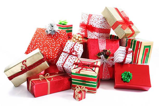 geschenk pile - haufen stock-fotos und bilder
