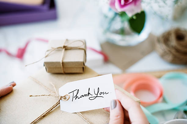 gift present box greeting celebration concept - gift voucher or card stock photos and pictures