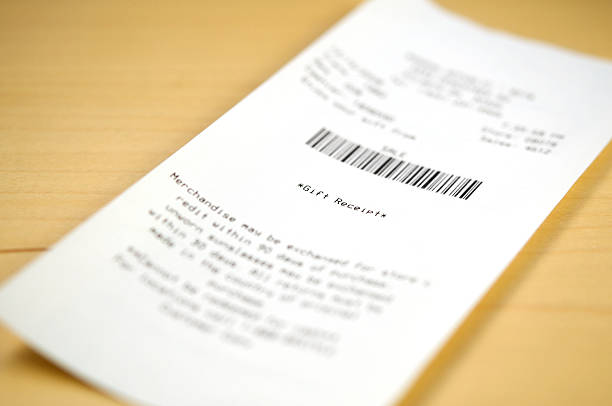 gift receipt - receipt stock photos and pictures