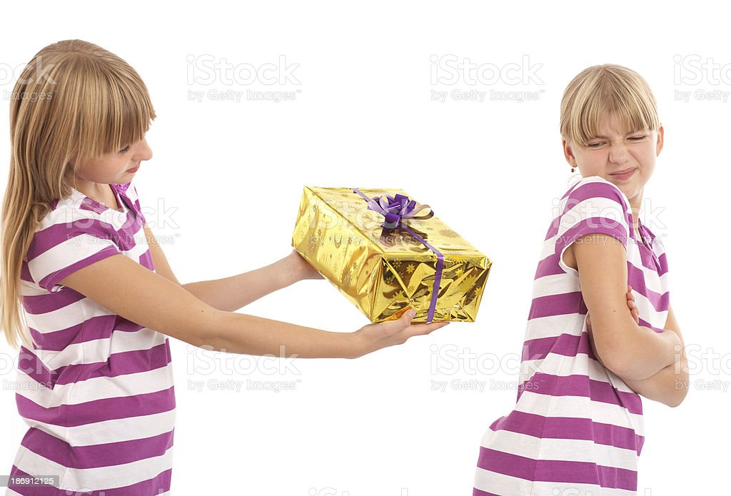 Gift rejection stock photo