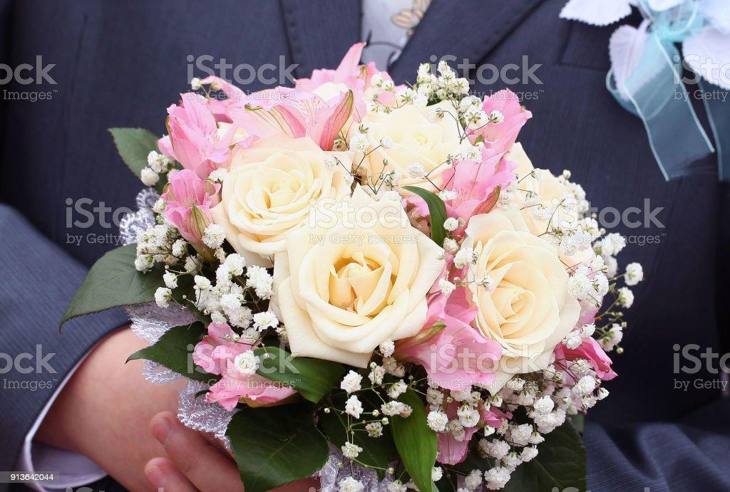 Geschenk Romantische Bunten Blumenstrauß Hochzeit Stockfoto Und Mehr Bilder Von Baumblüte