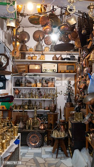 Gift shop in Mostar with traditional turkish handcrafts - Bosnia and Herzegovina.