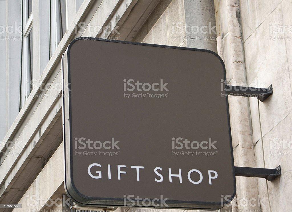 Signe de la boutique de souvenirs photo libre de droits