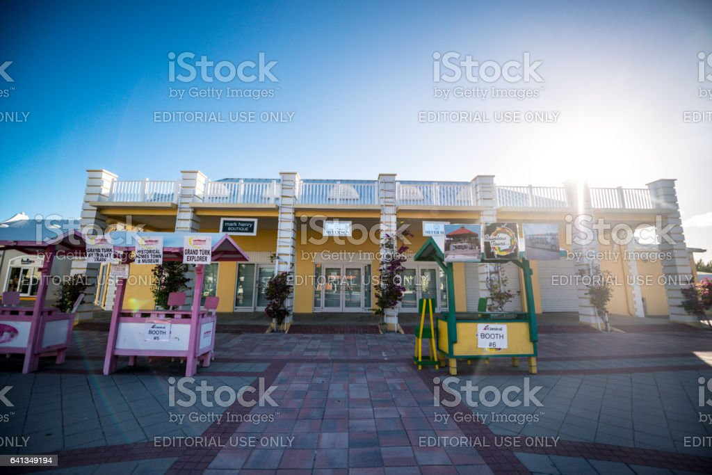 Gift Shops In Cruise Ship Center Of Grand Turk Turks And Caicos - Cruise ship shops