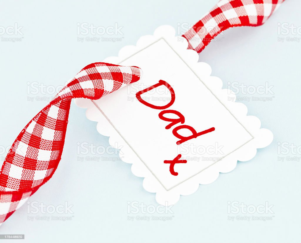 Gift Tag for Dad stock photo