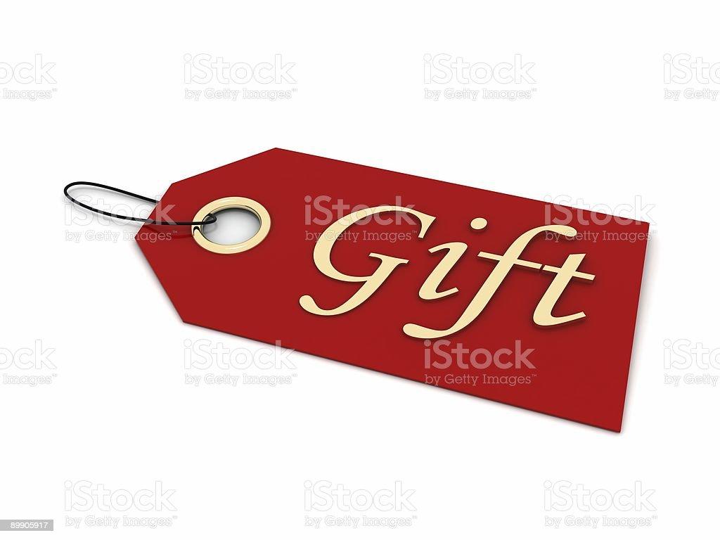 Geschenkkarte Lizenzfreies stock-foto