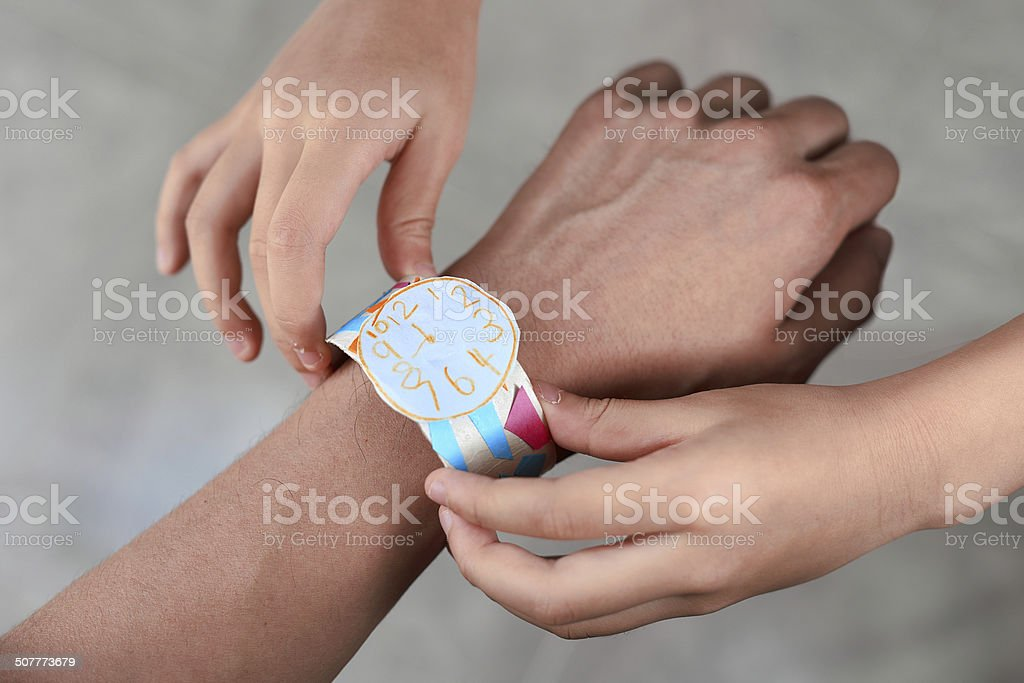 Gift to father stock photo