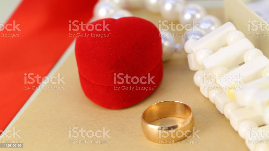 Gift to your loved one on Valentine's day, international women's day, wedding anniversary, mother's day, birthday or make proposals to get married .gift to a loved one stock photo