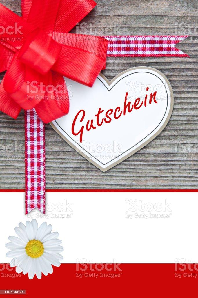 Gift voucher coupon Gutschein