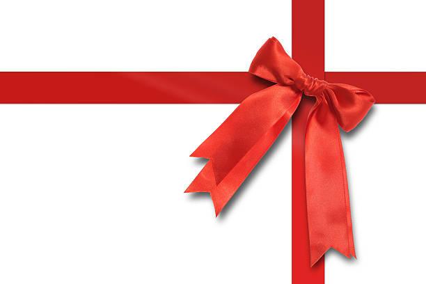 Geschenk mit einer roten Schleife. – Foto