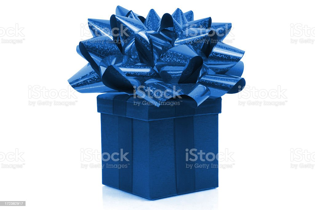 Gift with big bow stock photo