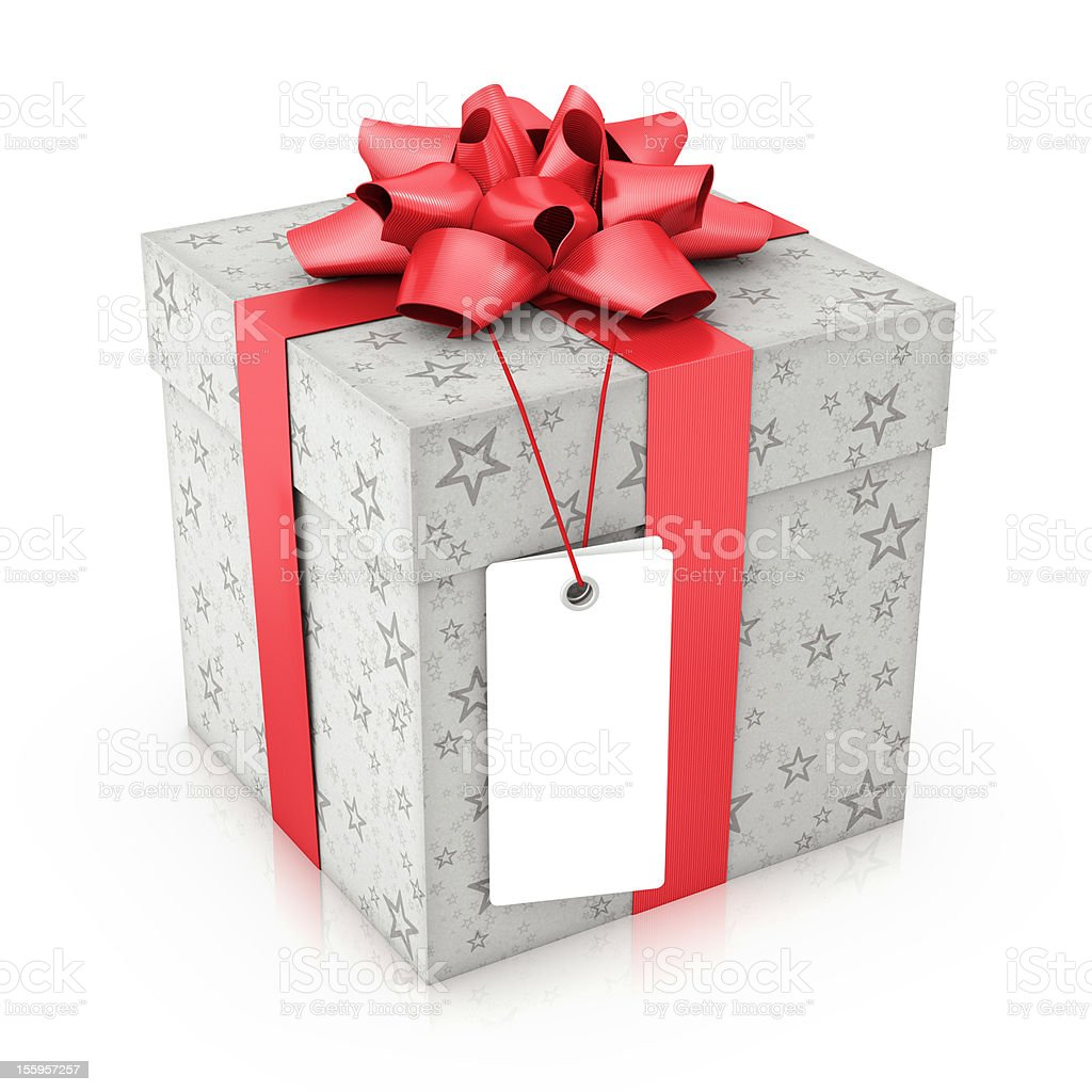 Gift With Label royalty-free stock photo