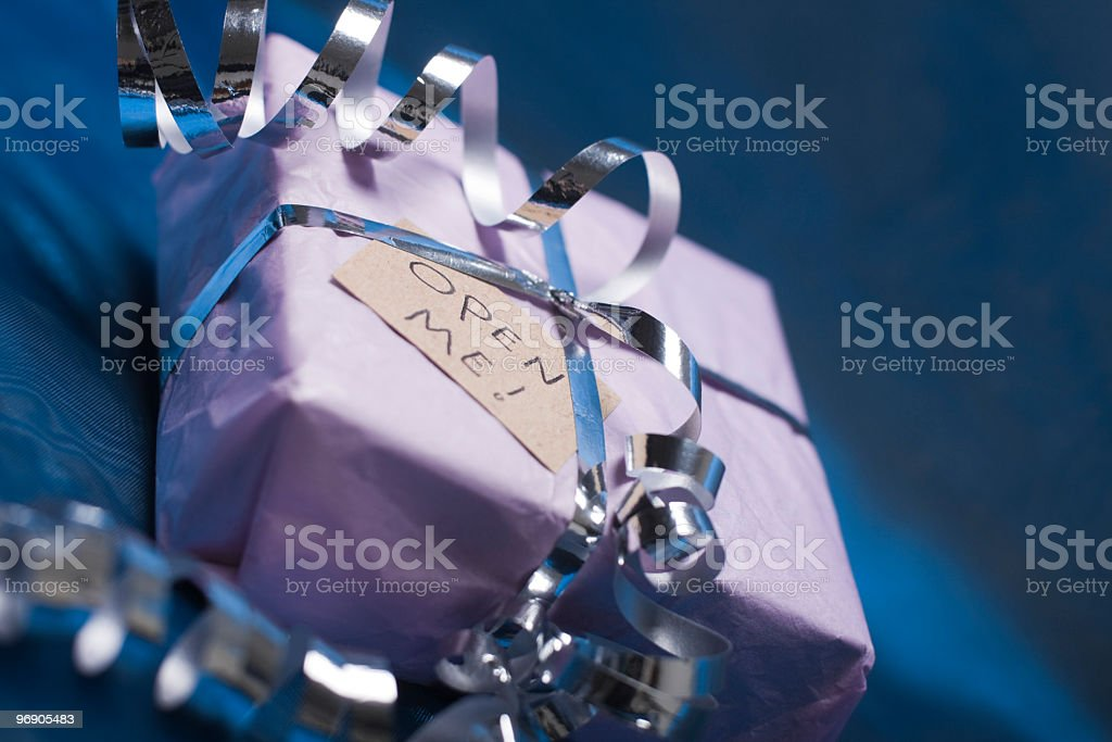 Gift with Ribbon royalty-free stock photo