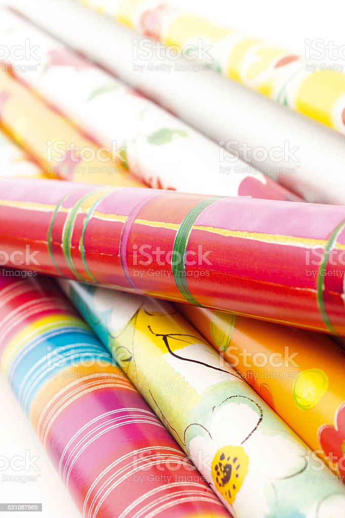 Gift wrap paper stock photo