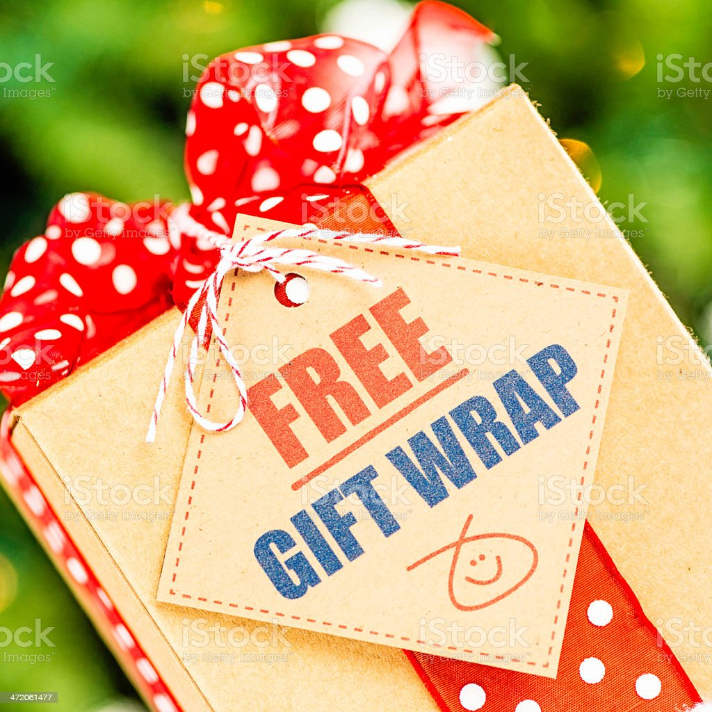 Free Gift Wrap Promotion Stock Photo Download Image Now Istock