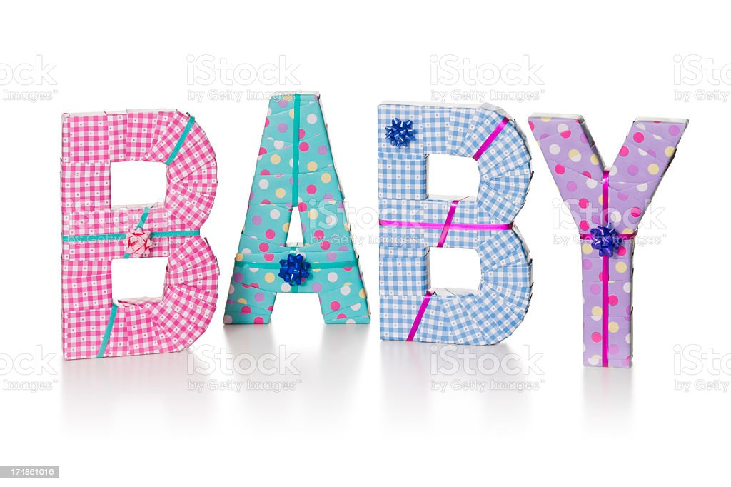 BABY gift wrapped royalty-free stock photo