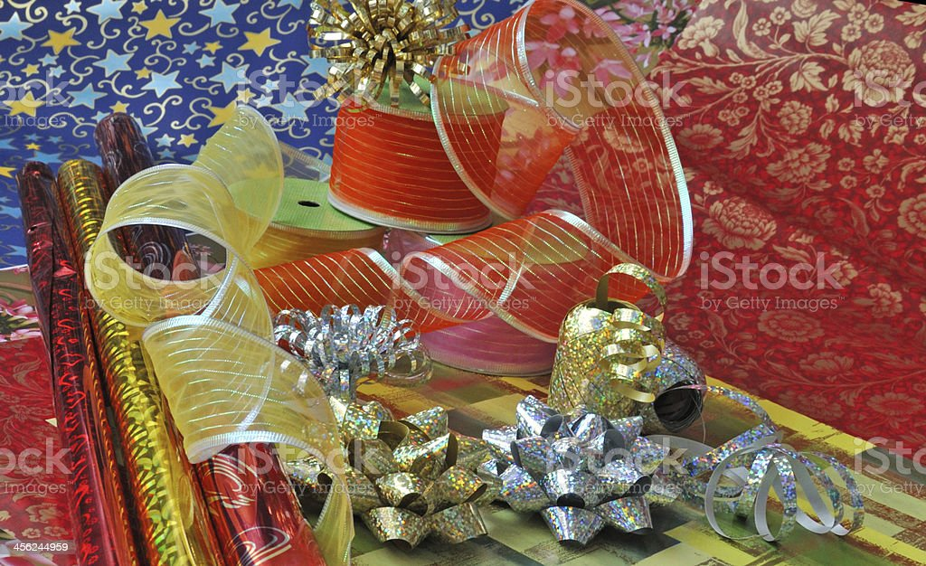 Gift wrapping paper stock photo