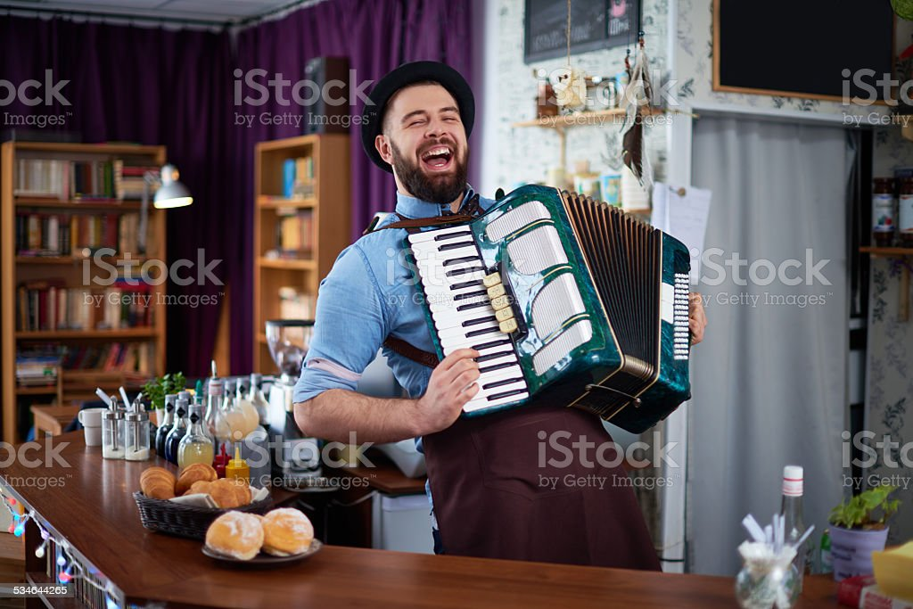 Gifted bartender stock photo