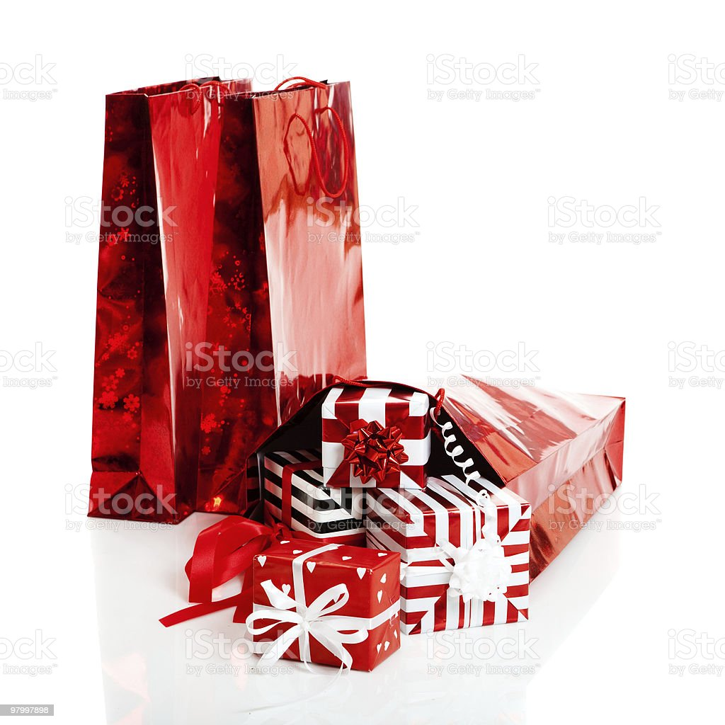 Gifts and Shopping bags royalty-free stock photo