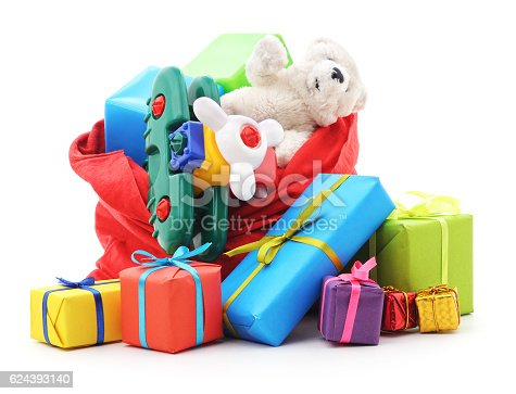 istock Gifts in the bag. 624393140