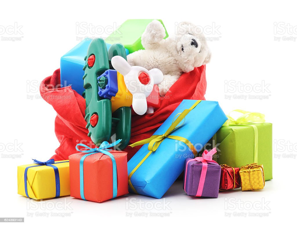 Gifts in the bag. stock photo
