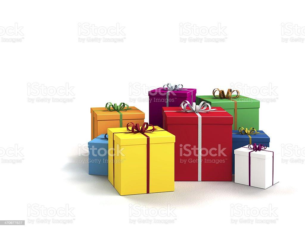 Geschenke auf weißem Hintergrund – Foto