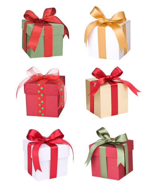gifts - christmas present stockfoto's en -beelden
