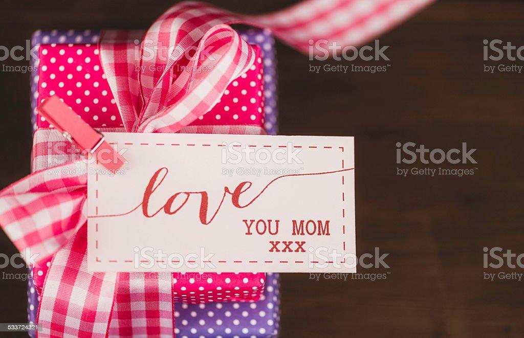 Photo Libre De Droit De Cadeaux Pour Maman Avec Un Message