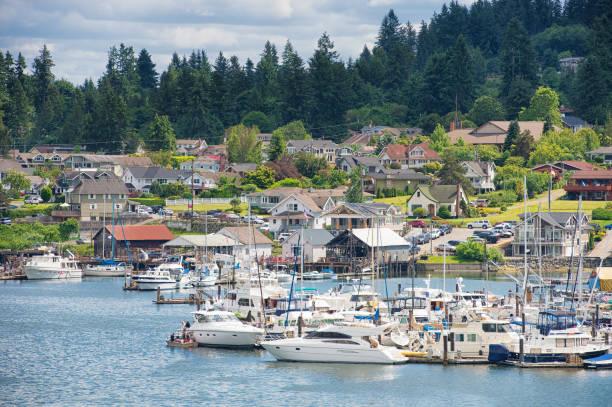 Gig Harbor Gig Harbor, Washington pierce county washington state stock pictures, royalty-free photos & images