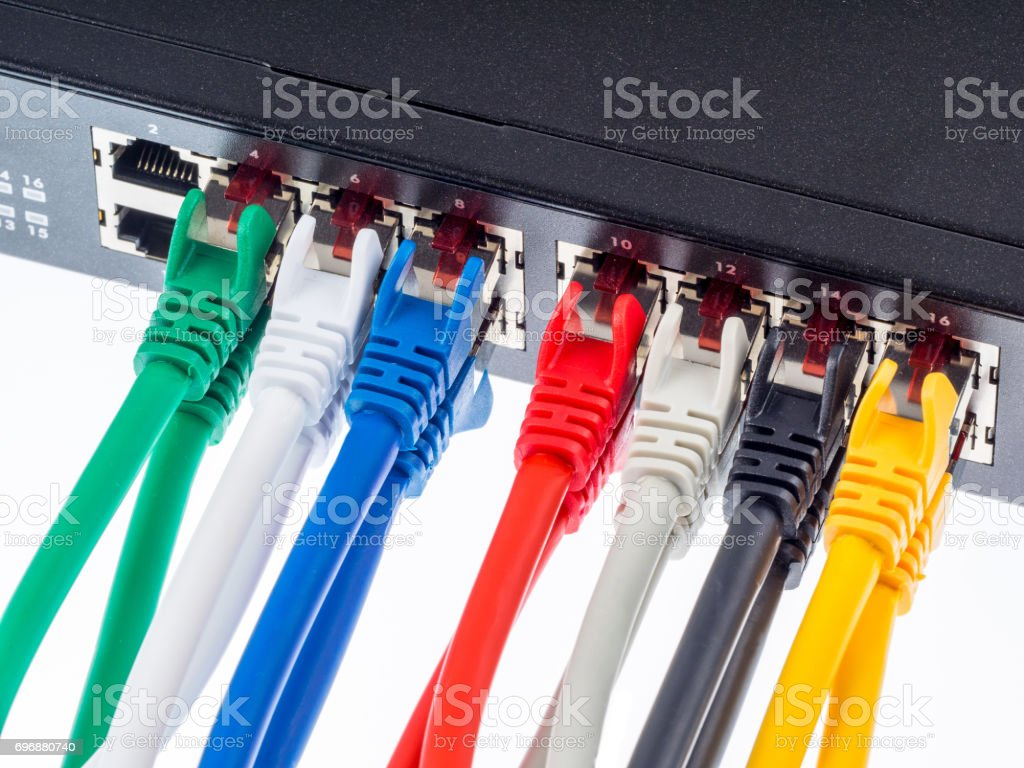 Gigabit switch stock photo