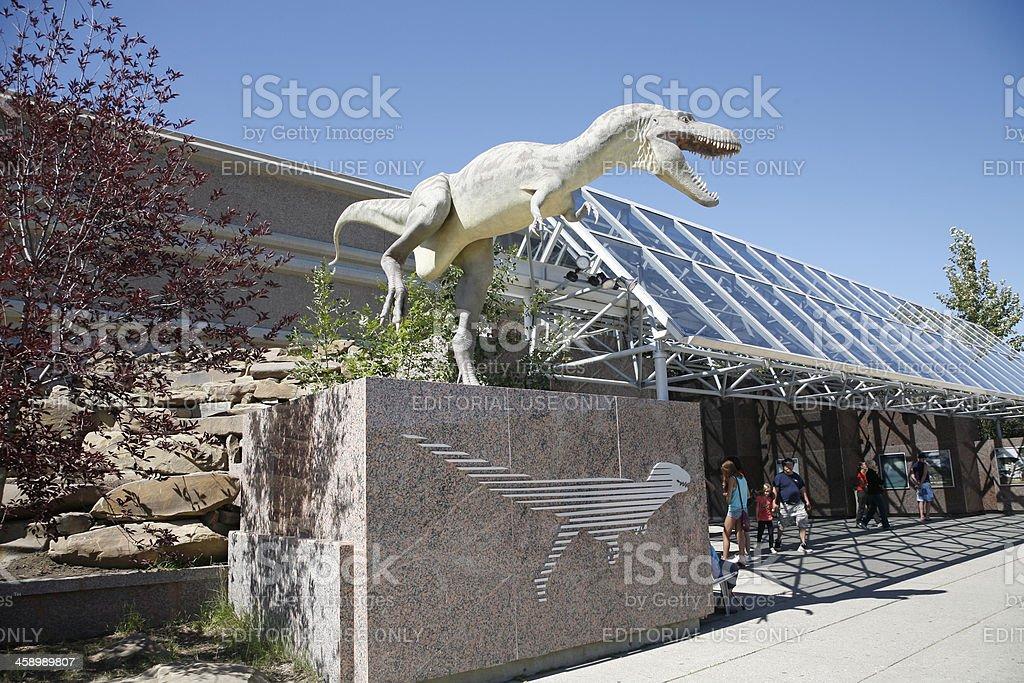 Gigantic Dinosaur At Entrance To Royal Tyrell Museum Drumheller Alberta stock photo