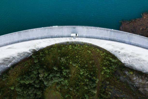 Gigerwald Lake (Switzerland) stock photo