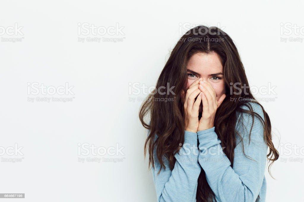Giggling girl stock photo
