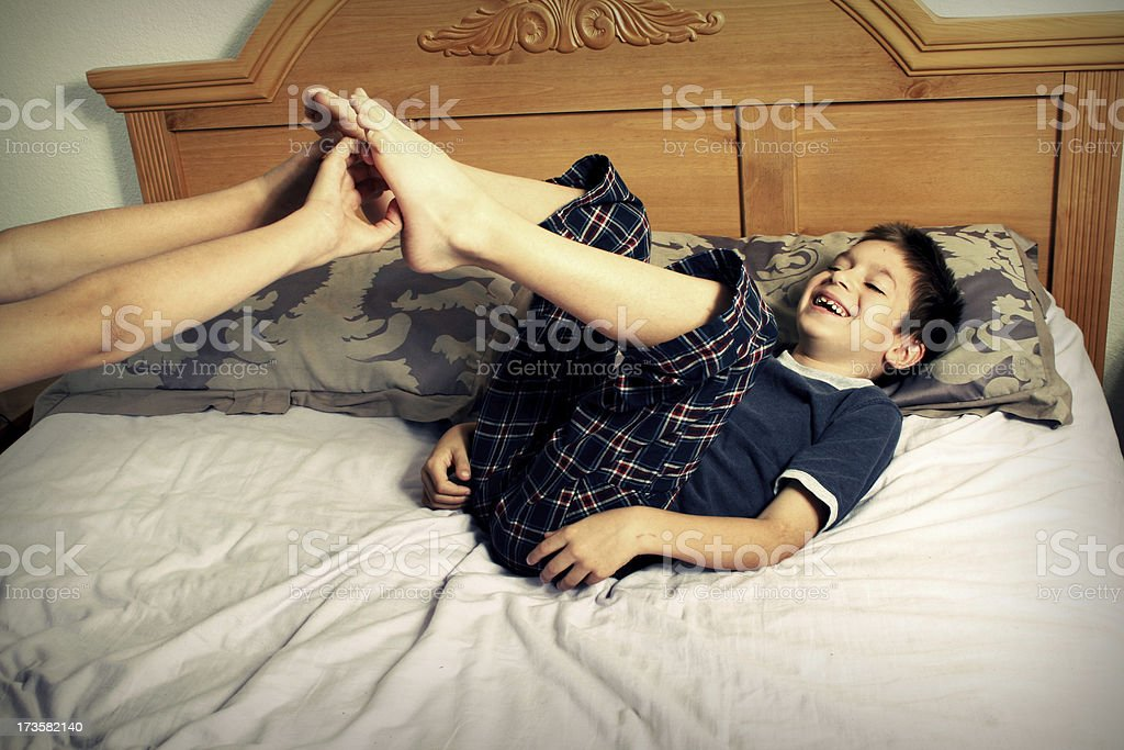 Giggling stock photo