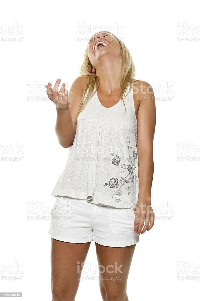 Giggling Young Woman royalty-free stock photo