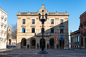 Gijon Town Hall and Mayor Square, Asturias, Spain