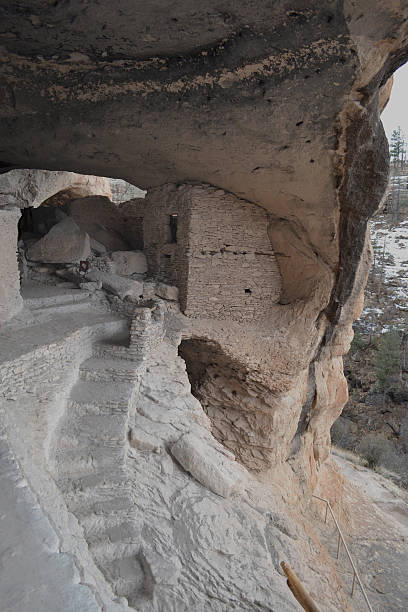 Gila cliff dwellings 2 stock photo