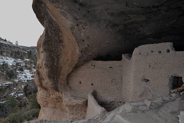 Gila cliff dwellings 3 stock photo