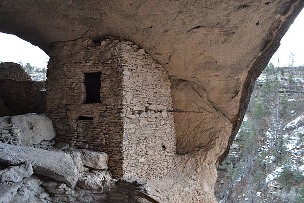 Gila cliff dwellings 4 stock photo