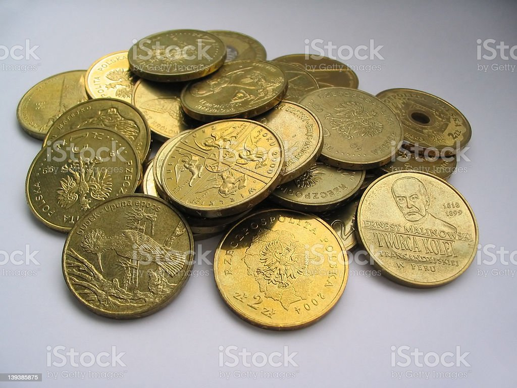 gilded coins collection #2 royalty-free stock photo