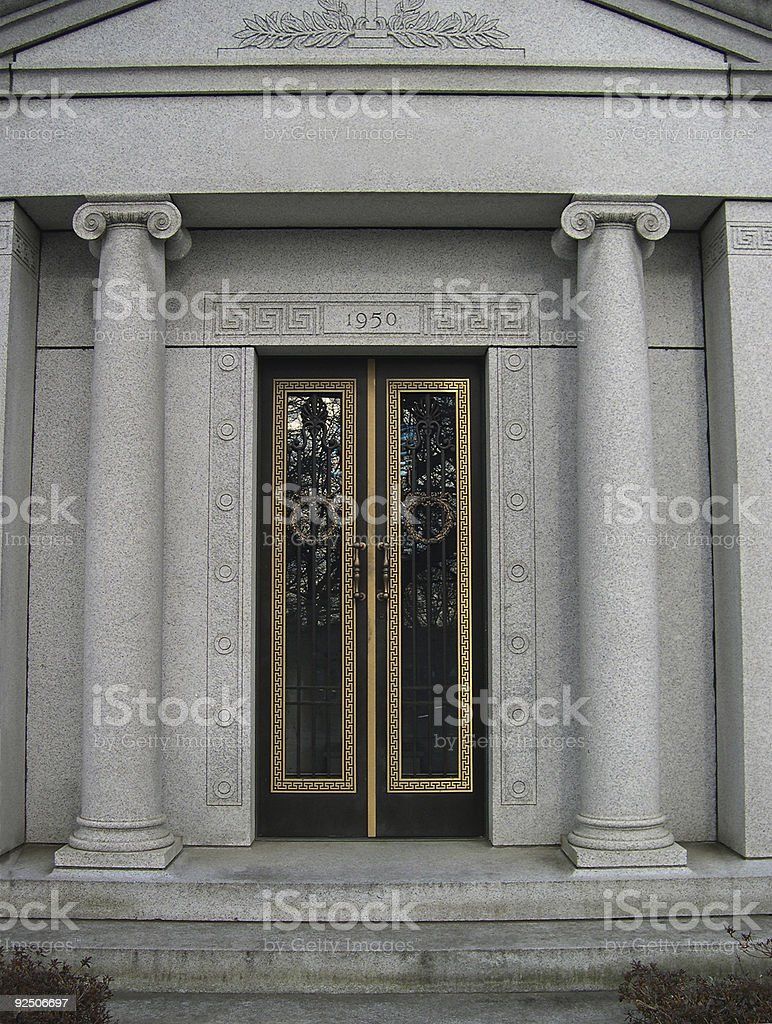 Gilded Entry 1950 royalty-free stock photo