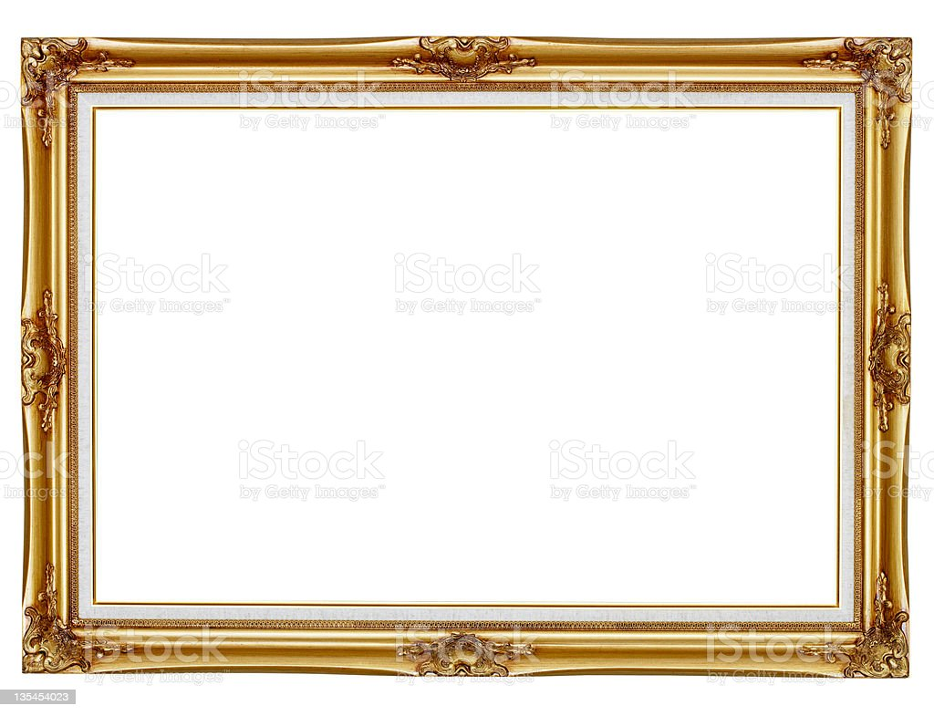 Gilded Frame For Painting On White Background Stock Photo & More ...