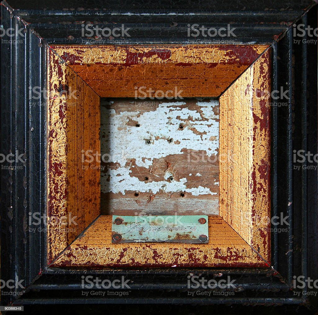 Gilded frame royalty-free stock photo