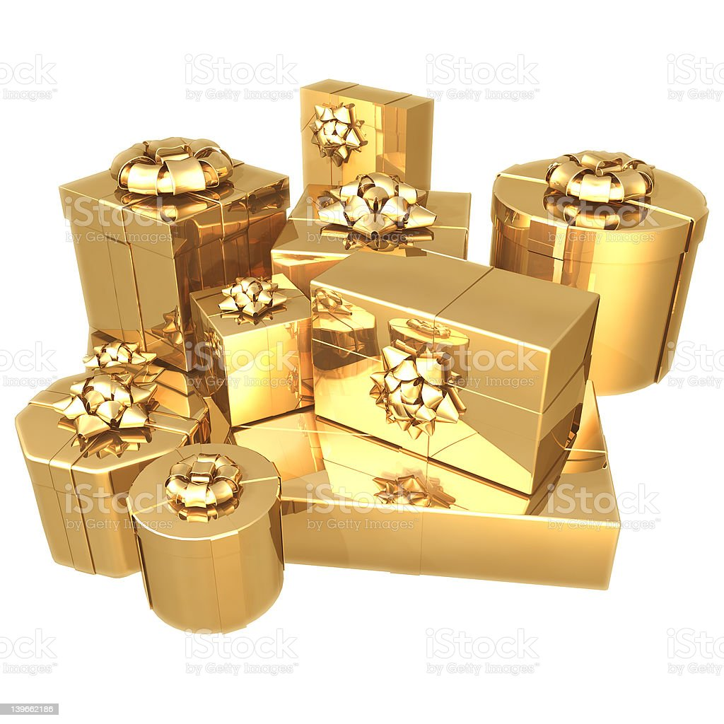 Gilded Presents 01 royalty-free stock photo