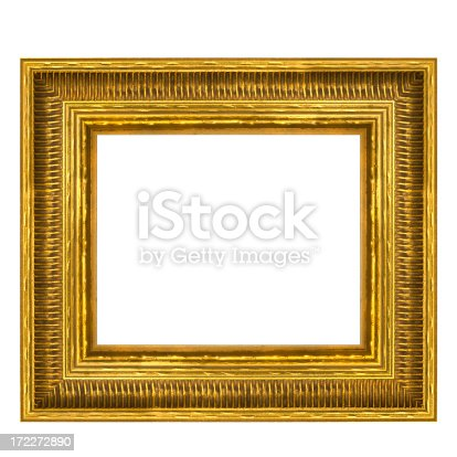 istock Gilded Rectangular Picture Frame 8X10 Aspect Ratio. Isolated 172272890