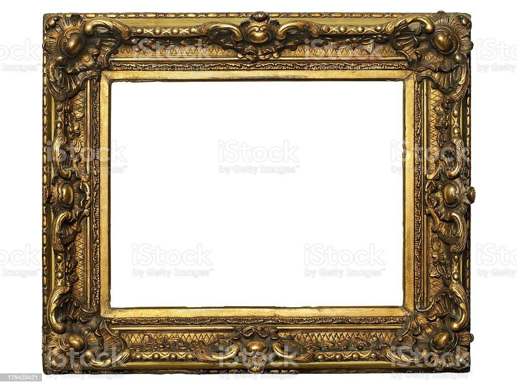 Gilded Wooden Frame stock photo